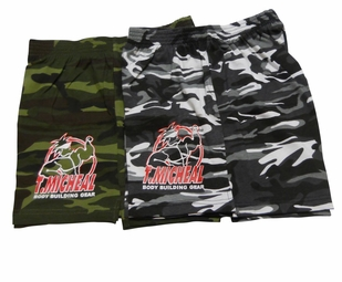 T. Micheal Camo Basic Workout Shorts- Style # 944- Factory Direct