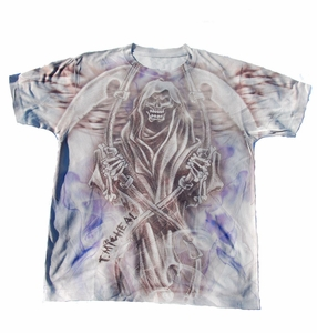 T. Micheal Grim Reaper Tee- # SW102C- Factory Direct