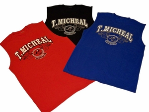 T. Micheal Printed Workout Muscle Shirt # 179C- Factory Direct