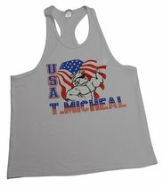T. Micheal US Flag Y-Back Stringer Tank Top # 190B- Factory Direct