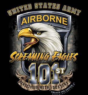 US Army 101st Screaming Eagle T-Shirt- Style 80425