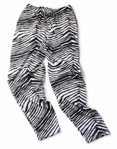 Zubaz Pants: Black/White Zubaz Zebra Pants
