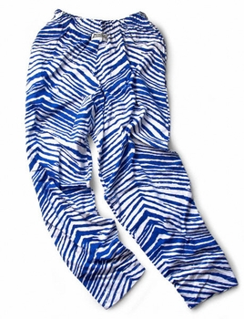 Zubaz Pants: Royal Blue/White Zubaz Zebra Pants
