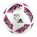adidas 2016 MLS Glider Soccer Ball - White/Pink