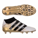 adidas ACE 16.1 Primeknit FG Soccer Cleats - White/Gold