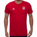 adidas FC Bayern Munich 3 Stripe Tee - FCB True Red