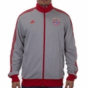 adidas FC Bayern Munich 3 Stripe Track Top - Grey/White
