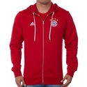 adidas FC Bayern Munich 3 Stripe Zip Hoody - FCB True Red