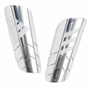 adidas Ghost Pro Soccer Shinguards - Silver/White