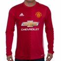 adidas Manchester United 2016/2017 LS Home Jersey