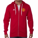 adidas Manchester United 3 Stripe Zip Hoody - Power Red