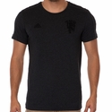 adidas Manchester United Graphic Tee - Black Melange