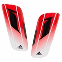 adidas Messi 10 Lesto Soccer Shinguards - Red/White