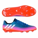 adidas Messi 16.1 FG Soccer Cleats - Blue/Solar Orange