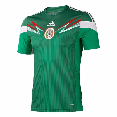 adidas Mexico 2014 Home Jersey - Click to enlarge
