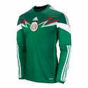 adidas Mexico 2014 L/S Home Jersey