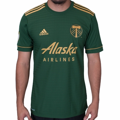 adidas Portland Timbers 2017/2018 Home Jersey - Click to enlarge