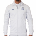 adidas Real Madrid 3 Stripe Track Top - Crystal White
