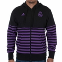 adidas Real Madrid Full-Zip Hoody - Black/Purple