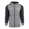 adidas Real Madrid Full-Zip Hoody - Heather Grey