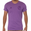 adidas Real Madrid Graphic Tee - Purple Melange