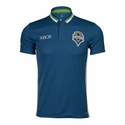 adidas Seattle Sounders SS Polo - Blue
