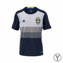 Youth adidas Sweden 2016 Away Jersey
