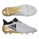 adidas X 16.1 FG Soccer Cleats - White/Gold