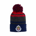 Chivas Striped Pompom Beanie