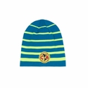 Club America Striped Beanie - Neon Blue