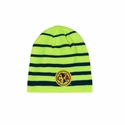 Club America Striped Beanie - Neon Lime