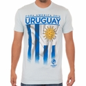 Fifth Sun Uruguay 2016 Copa America Flag Tee - Light Blue