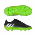 Kids adidas Messi 16.1 FG Soccer Cleats - Dark Grey & Metallic Silver