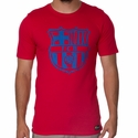 Men's Nike FC Barcelona Crest Tee - Prime Red