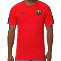 Men's Nike FC Barcelona Squad SS Top - Bright Crimson