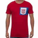 Men's Nike USA 2017 Crest Tee - Gym Red