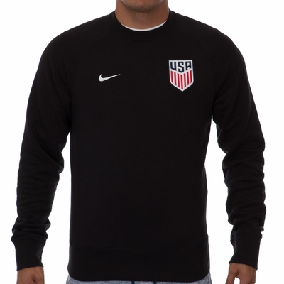 Men's Nike USA AW77 Authentic Crew - Black - Click to enlarge