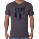 Men's Nike USA Crest Tee - Charcoal Heather