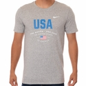 Men's Nike USA Verbiage Tee - DK Grey Heather