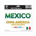 Mexico 2016 Copa America 4x6 Decal