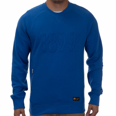 Nike FC Barcelona Authentic Crew Sweatshirt - Game Royal - Click to enlarge