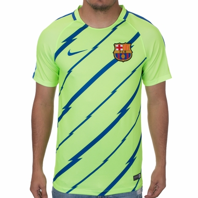 Nike FC Barcelona Breathe Training Top - Ghost Green - Click to enlarge