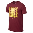 Nike FC Barcelona Core Tee - Storm Red