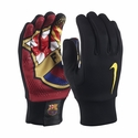 Nike FC Barcelona HyperWarm Field Player Gloves - Black