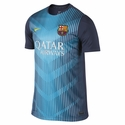 Nike FC Barcelona Squad SS PM Training Top - Midnight Navy