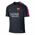 Nike FC Barcelona Squad SS Training Top - Dark Obsidian