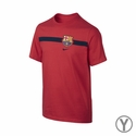 Nike FC Barcelona Youth Team Tee - LT Crimson