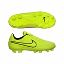 Nike JR Tiempo Genio Leather FG Soccer Cleats - Volt