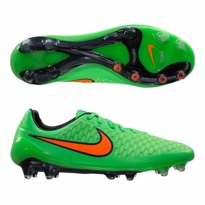 green soccer cleats