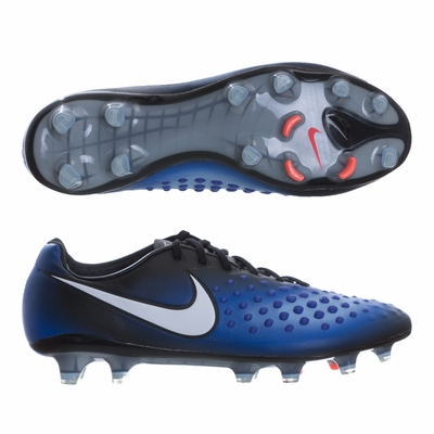 Nike Magista Opus II FG Soccer Cleats - Black/Paramount Blue - Click to enlarge